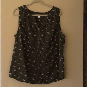 Zebra print dress tank top